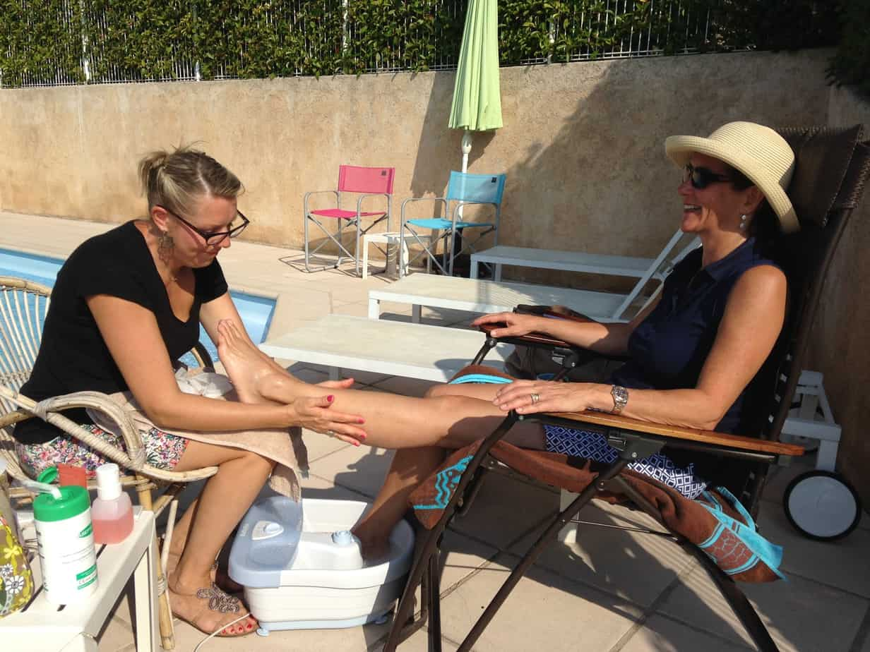 Spa Pedicure by the Pool
